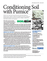 Conditioning Soil with Pumice Knowledge Brief